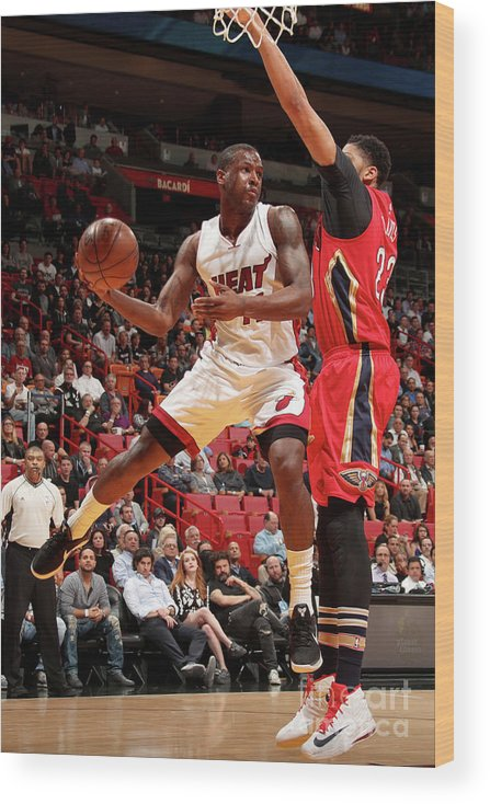 Nba Pro Basketball Wood Print featuring the photograph Dion Waiters by Issac Baldizon
