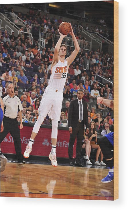 Nba Pro Basketball Wood Print featuring the photograph Dragan Bender by Barry Gossage