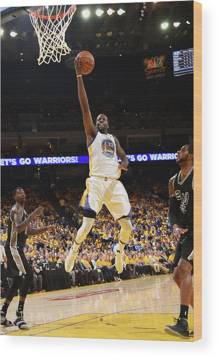 Playoffs Wood Print featuring the photograph Draymond Green by Andrew D. Bernstein