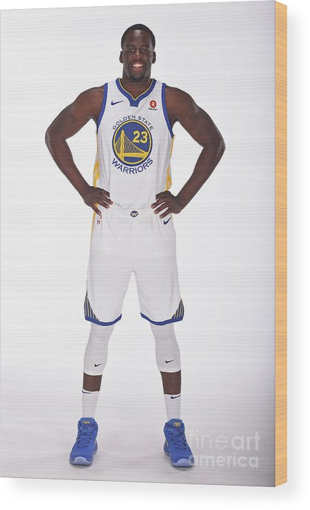 Media Day Wood Print featuring the photograph Draymond Green by Noah Graham