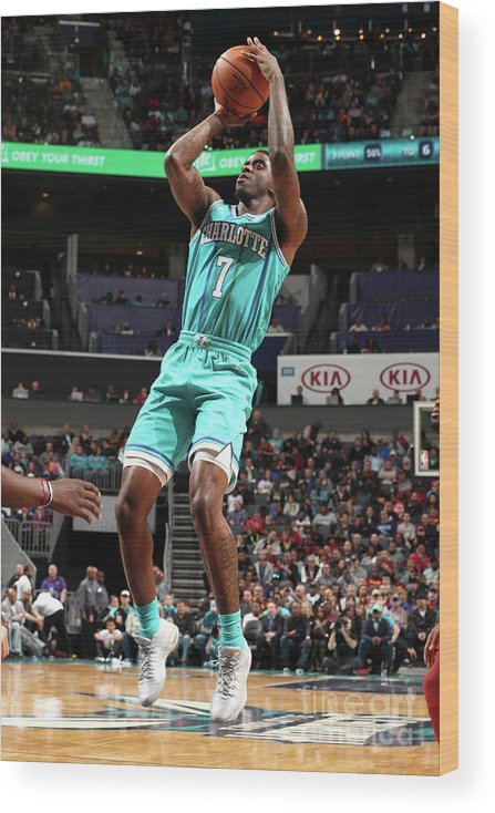 Nba Pro Basketball Wood Print featuring the photograph Dwayne Bacon by Kent Smith