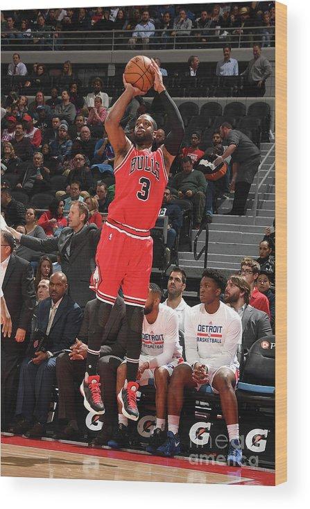 Nba Pro Basketball Wood Print featuring the photograph Dwyane Wade by Chris Schwegler