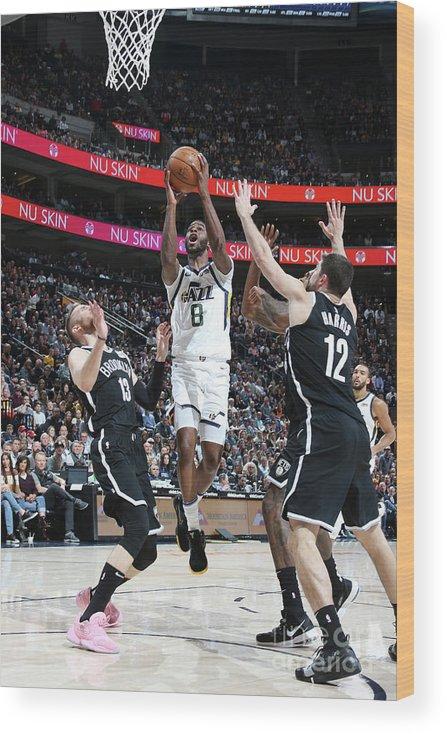 Nba Pro Basketball Wood Print featuring the photograph Emmanuel Mudiay by Melissa Majchrzak