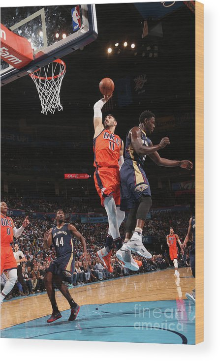 Nba Pro Basketball Wood Print featuring the photograph Enes Kanter by Layne Murdoch