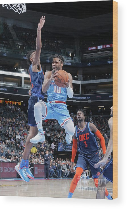 Nba Pro Basketball Wood Print featuring the photograph Frank Mason by Rocky Widner