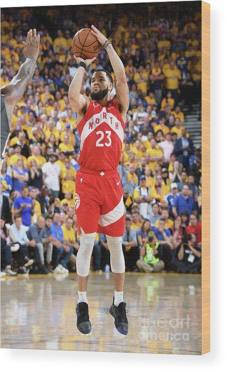 Playoffs Wood Print featuring the photograph Fred Vanvleet by Andrew D. Bernstein