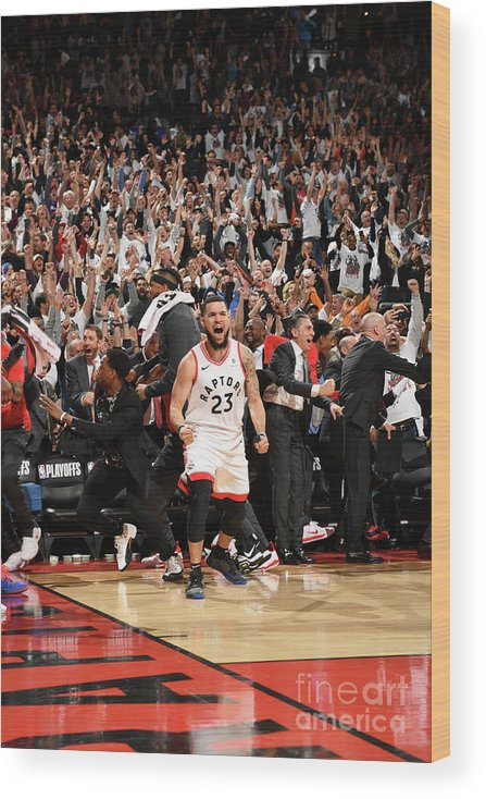 Playoffs Wood Print featuring the photograph Fred Vanvleet by Ron Turenne