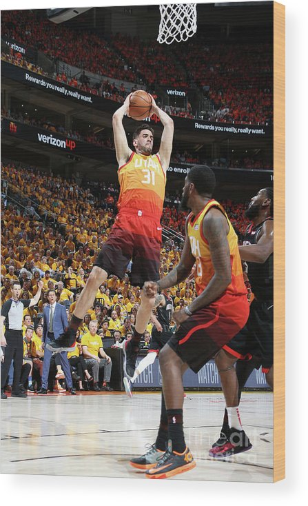 Playoffs Wood Print featuring the photograph Georges Niang by Melissa Majchrzak
