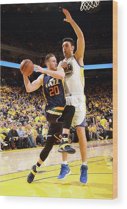 Playoffs Wood Print featuring the photograph Gordon Hayward by Andrew D. Bernstein