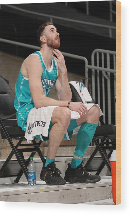 Nba Pro Basketball Wood Print featuring the photograph Gordon Hayward by Kent Smith