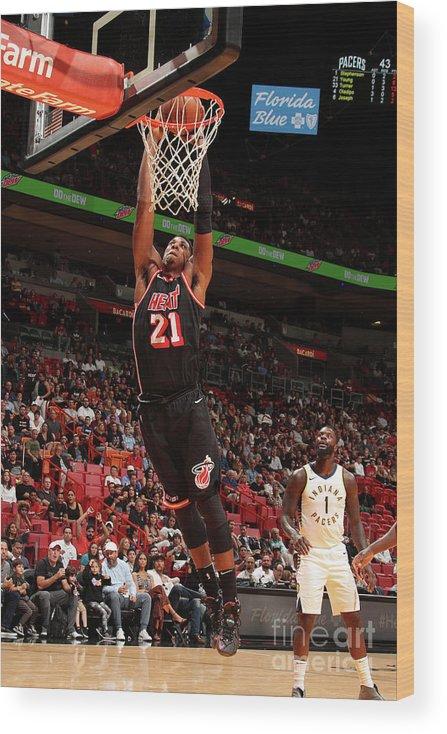 Nba Pro Basketball Wood Print featuring the photograph Hassan Whiteside by Issac Baldizon