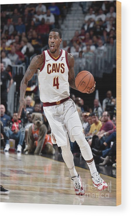 Nba Pro Basketball Wood Print featuring the photograph Iman Shumpert by David Liam Kyle