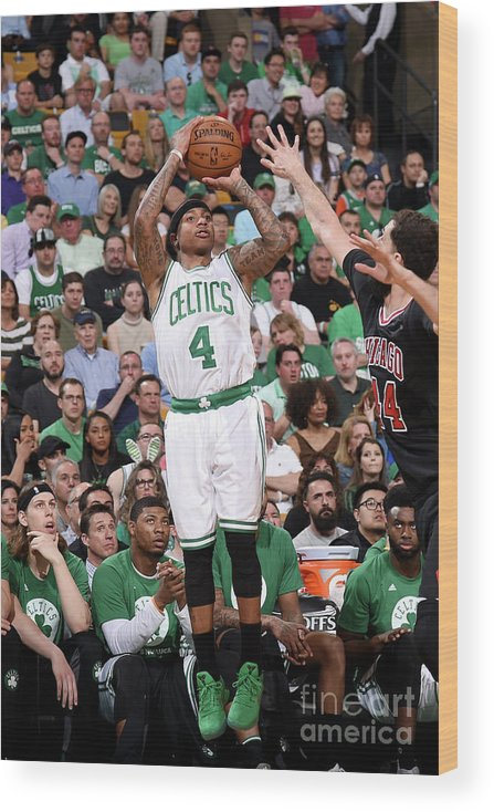 Playoffs Wood Print featuring the photograph Isaiah Thomas by Brian Babineau