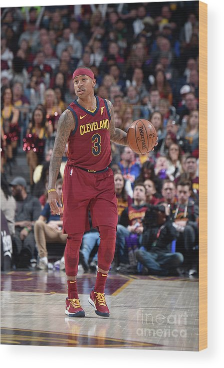 Nba Pro Basketball Wood Print featuring the photograph Isaiah Thomas by David Liam Kyle