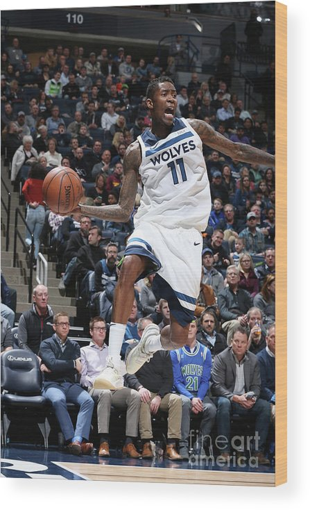 Sports Ball Wood Print featuring the photograph Jamal Crawford by David Sherman