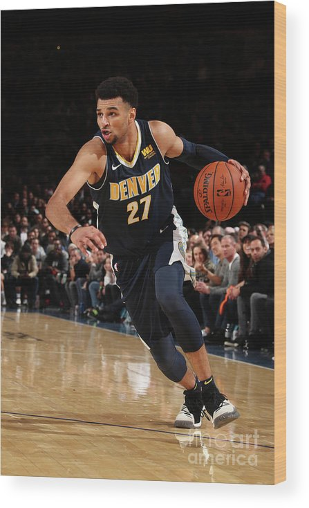 Nba Pro Basketball Wood Print featuring the photograph Jamal Murray by Nathaniel S. Butler