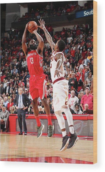 Nba Pro Basketball Wood Print featuring the photograph James Harden by Joe Murphy