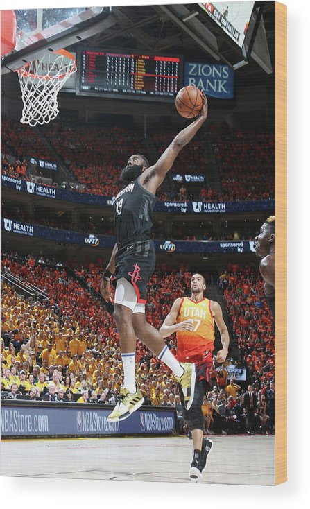 Playoffs Wood Print featuring the photograph James Harden by Melissa Majchrzak