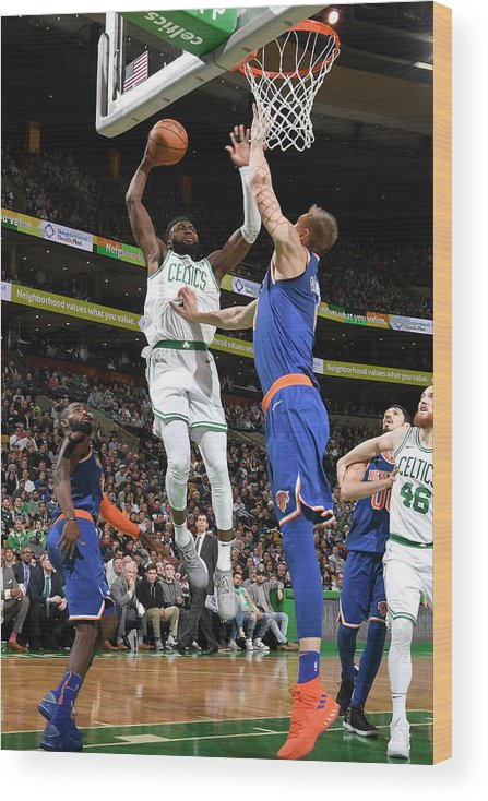 Nba Pro Basketball Wood Print featuring the photograph Jaylen Brown by Brian Babineau