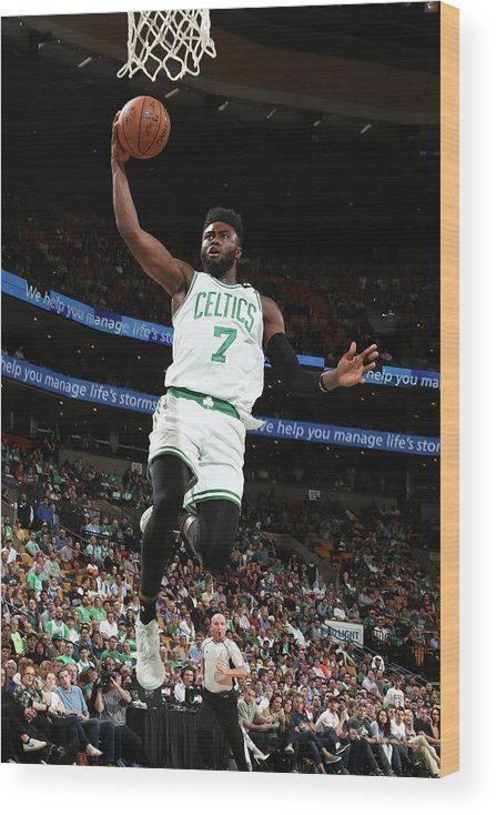 Playoffs Wood Print featuring the photograph Jaylen Brown by Nathaniel S. Butler
