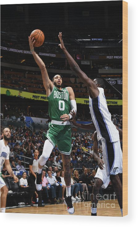 Nba Pro Basketball Wood Print featuring the photograph Jayson Tatum by Fernando Medina