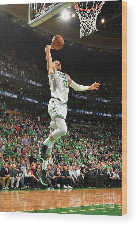 Playoffs Wood Print featuring the photograph Jayson Tatum by Jesse D. Garrabrant