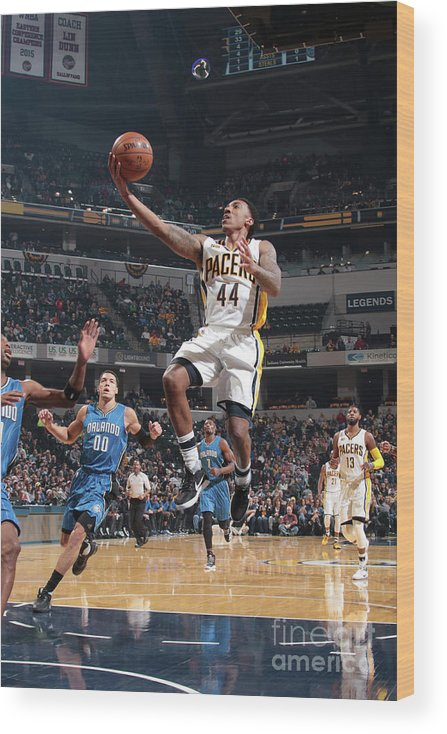 Nba Pro Basketball Wood Print featuring the photograph Jeff Teague by Ron Hoskins