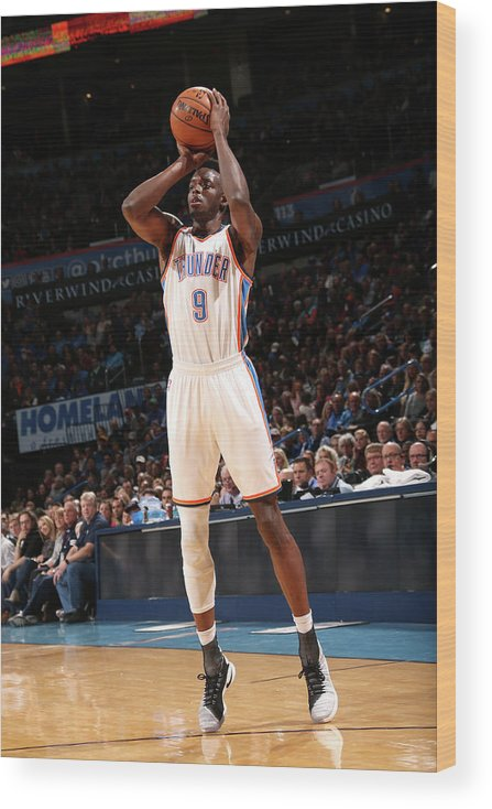 Nba Pro Basketball Wood Print featuring the photograph Jerami Grant by Layne Murdoch