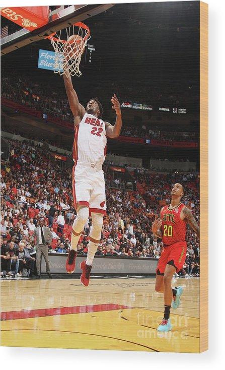 Nba Pro Basketball Wood Print featuring the photograph Jimmy Butler by Oscar Baldizon