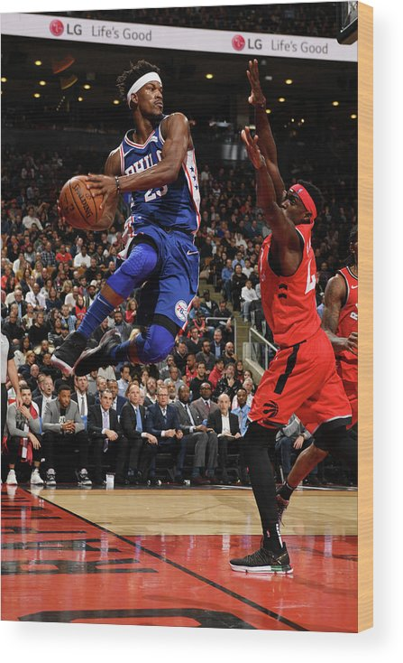 Nba Pro Basketball Wood Print featuring the photograph Jimmy Butler by Ron Turenne