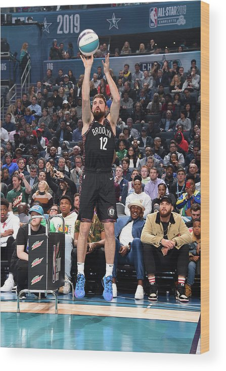 Nba Pro Basketball Wood Print featuring the photograph Joe Harris by Andrew D. Bernstein