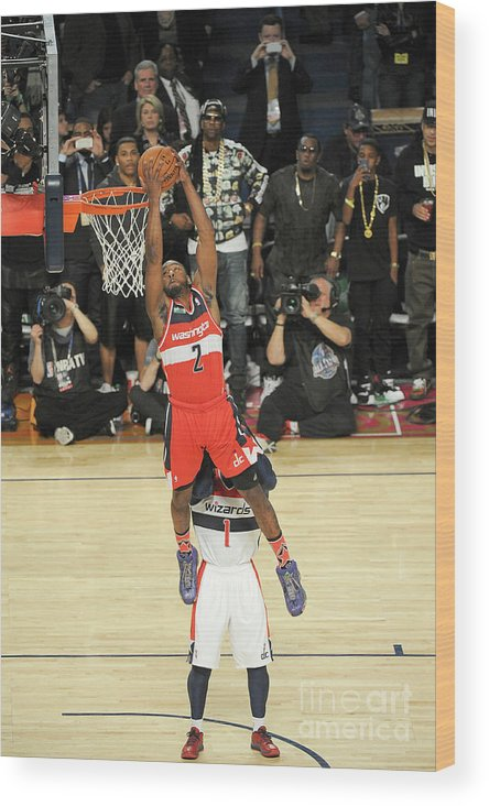 Smoothie King Center Wood Print featuring the photograph John Wall by Bill Baptist