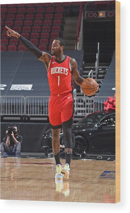 Nba Pro Basketball Wood Print featuring the photograph John Wall by Randy Belice
