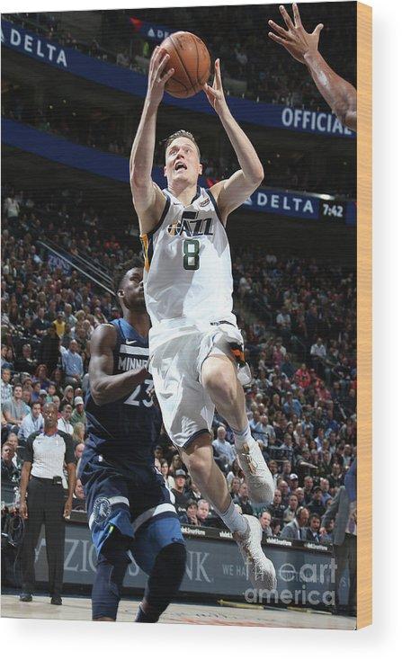 Nba Pro Basketball Wood Print featuring the photograph Jonas Jerebko by Melissa Majchrzak