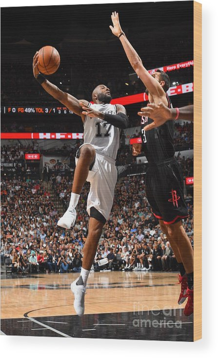 Playoffs Wood Print featuring the photograph Jonathon Simmons by Jesse D. Garrabrant