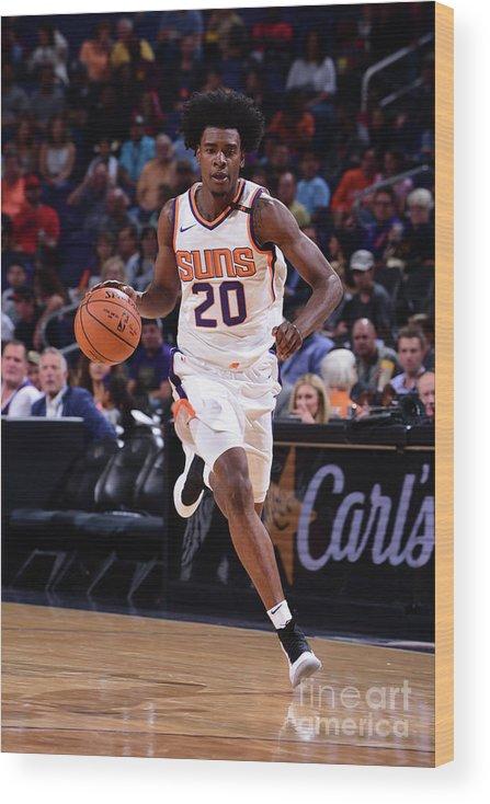 Nba Pro Basketball Wood Print featuring the photograph Josh Jackson by Michael Gonzales