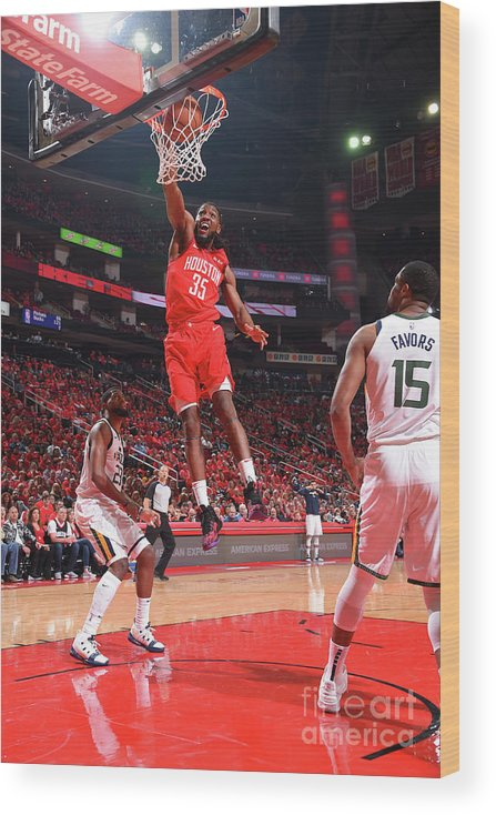 Playoffs Wood Print featuring the photograph Kenneth Faried by Bill Baptist