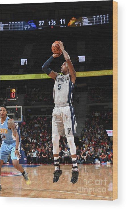 Nba Pro Basketball Wood Print featuring the photograph Kentavious Caldwell-pope by Chris Schwegler