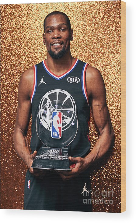 Nba Pro Basketball Wood Print featuring the photograph Kevin Durant by Jennifer Pottheiser