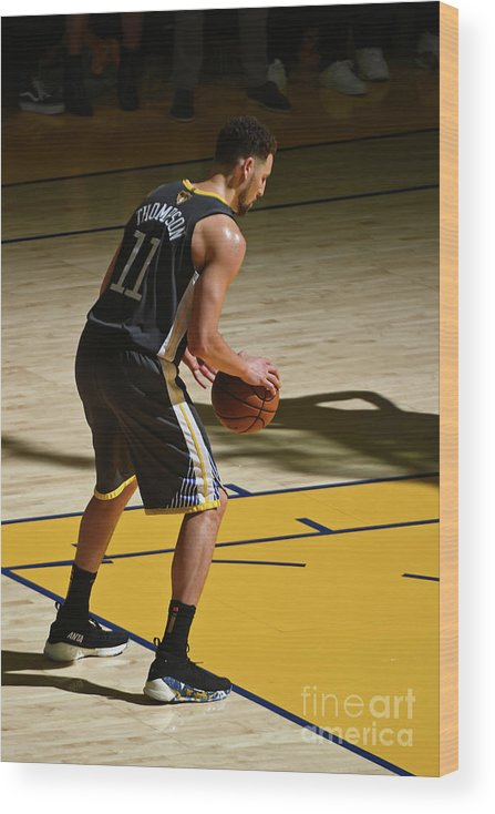 Playoffs Wood Print featuring the photograph Klay Thompson by Garrett Ellwood
