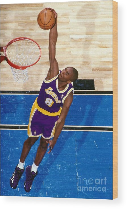 Nba Pro Basketball Wood Print featuring the photograph Kobe Bryant by Nathaniel S. Butler