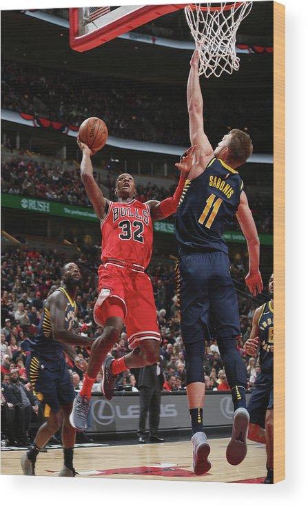 Chicago Bulls Wood Print featuring the photograph Kris Dunn by Gary Dineen