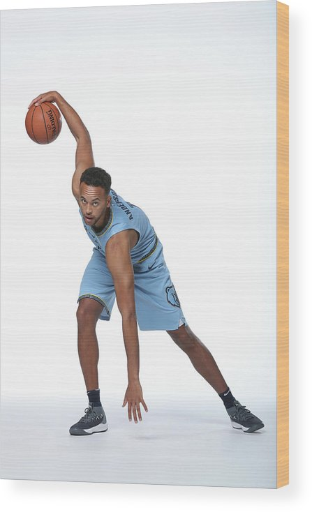 Media Day Wood Print featuring the photograph Kyle Anderson by Joe Murphy