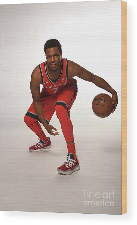 Media Day Wood Print featuring the photograph Kyle Lowry by Ron Turenne