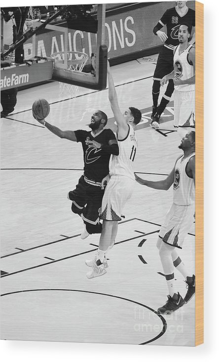 Playoffs Wood Print featuring the photograph Kyrie Irving by Andrew D. Bernstein