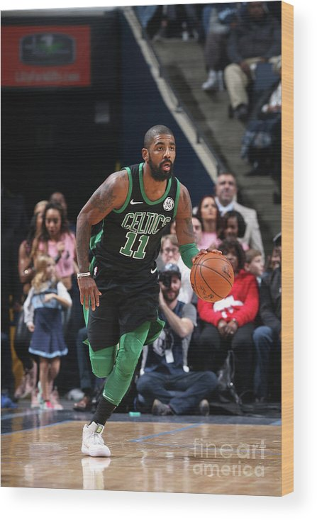 Nba Pro Basketball Wood Print featuring the photograph Kyrie Irving by Joe Murphy