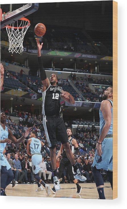 Nba Pro Basketball Wood Print featuring the photograph Lamarcus Aldridge by Joe Murphy