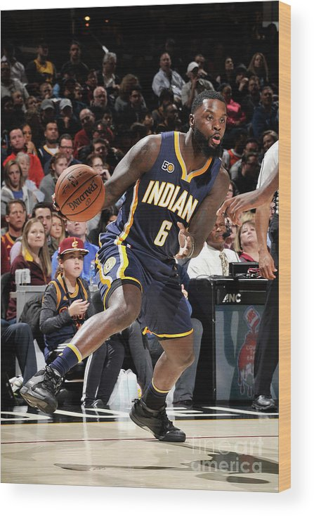 Nba Pro Basketball Wood Print featuring the photograph Lance Stephenson by David Liam Kyle