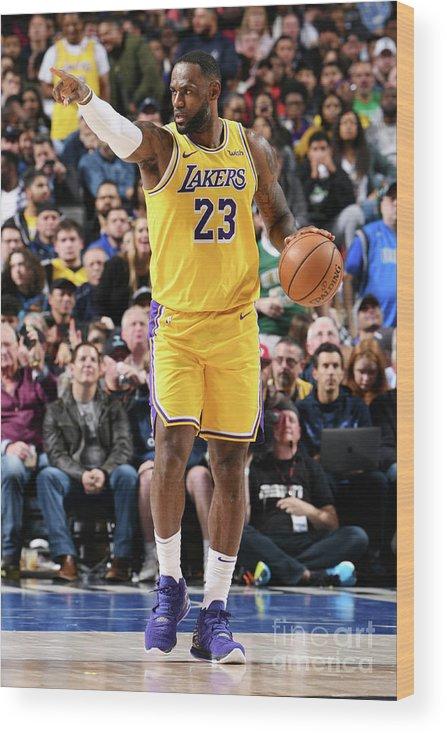 Nba Pro Basketball Wood Print featuring the photograph Lebron James by Glenn James