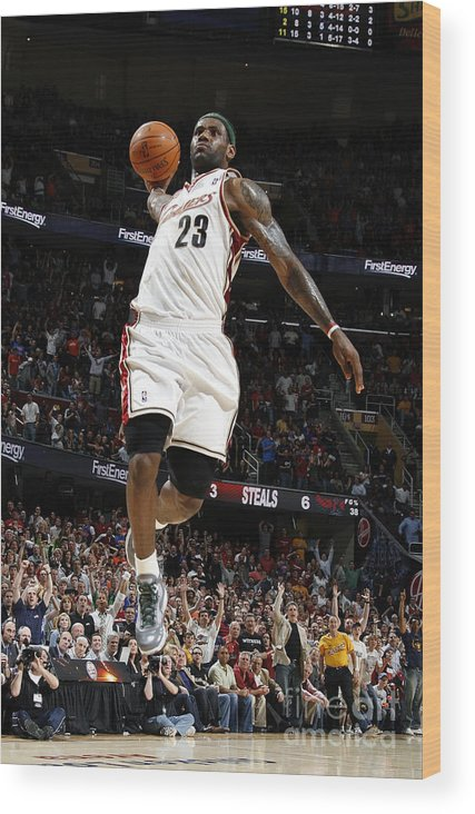 Nba Pro Basketball Wood Print featuring the photograph Lebron James by Gregory Shamus
